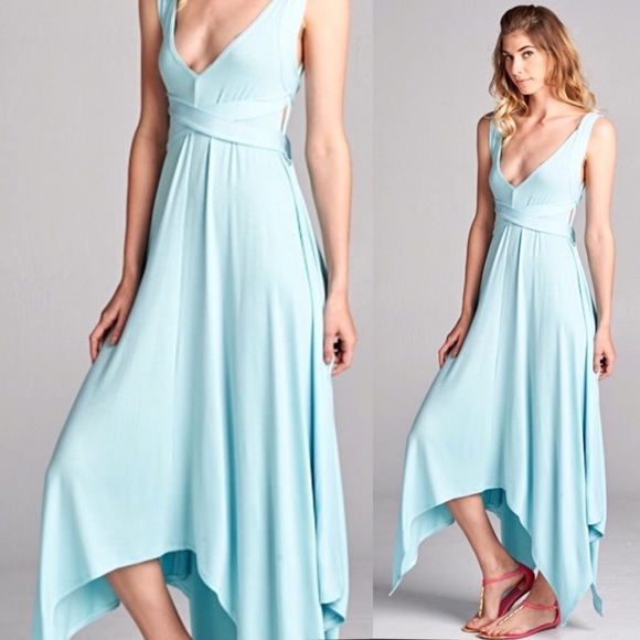 Dresses & Skirts - NEW! Azure Blue Asymmetrical Dress